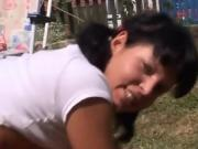Korean teen sex first time Anal penetrated at bbq party