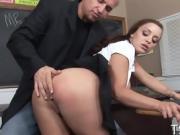 Naughty girl rides a cock
