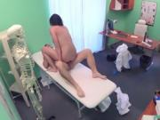 Fake Hospital Orgasm on Docks cock