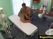 Blonde Hospital Goer Gets Fucked In Front Of The Doctor