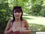 Hungarian Suzy Rainbow fucks a stranger in the parking area