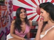 Two Women Give Oral To The Same Man And Each Other