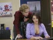 Intern With Big Jugs Valentina Nappi Pleasures Boss