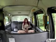 Hot amateur passenger gets banged by horny cab driver