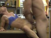 Blonde Beauty Getting Banged On Desk In Pawn Shop Office