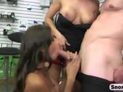 Brunette cutie Zaya Cassidy sucks dick