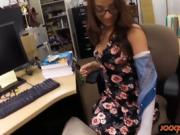 College student with glasses twat ripped by pawn dude
