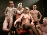 Blonde Mistresses Play With Their Slave Boys