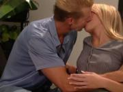 Gorgeous Blonde Fucks A Service Man Came To Her Home