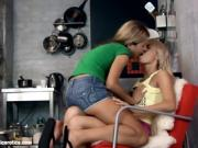 Watch These Two Petite Blondes Lick And Suck Each Other
