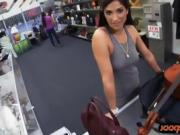 Amateur babe pawns her cello and pounded by pervy pawn guy