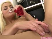 Blonde Chick With Small Tits Plays With Her Titties