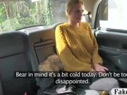 Big tits blonde passenger anal smashed in the backseat