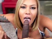 Blond Asian Girl Lin