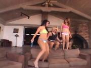 Slutty Lesbians Take The Dildo Drilling Fun