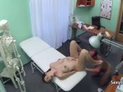 Busty brunette fucks in hospital