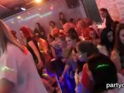 Horny girls get totally foolish and naked at hardcore party
