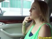 teen blows in car