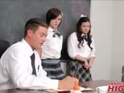 School Teacher Fucking Two Teen Students