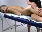 Nice cutie stretches tight vagina and gets deflorated