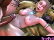 3D Space Giants Threesome with Tiny Loli - FreeFetishTVcom