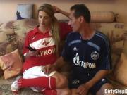 Gorgeous Blonde Nicole Enjoys Sucking On Large Cock
