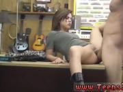 Brunette edging Pawnstar meets a rockstar