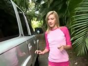 Blonde Teen Has Oral With Well Hung Driver