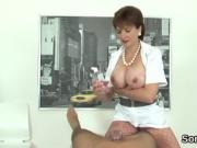 Cheating british milf lady sonia presents her massive natural