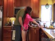 Brunette teenie Avery Moon getting stuffed by her stepdad