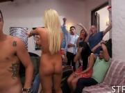 Explicit orgy party