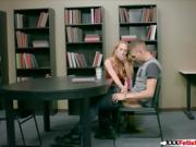 Carter Cruise Typical college horny on library