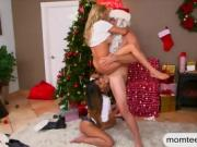 Alexis Fawx and Sophia Leone get fucked by Santa at Christmas