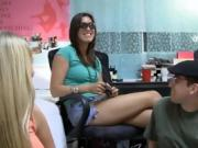 College dorm room party turns into a dirty orgy fuck