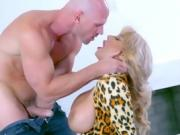 Mature Vixen Alyssa Lynn Blows Her Hung Bodyguard