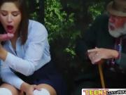 Very Horny and Liberated teen Abella sucks a cock