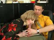 Super Hot Milf Blonde Sucking Her Boss' Dick