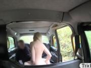 Small tits blonde woman asshole pounded by the driver