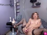 Beautiful MILF LillyLuck gets loud moaning orgasm 18flirt
