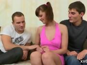 Bf assists with hymen check-up and shagging of virgin nympho