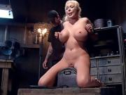 Kinky Blonde Tied Up And Has Her Pussy Played With