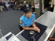 Latin police officer banged by pawn guy in his pawnshop