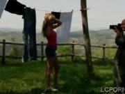 Big tits blodne banged outdoors