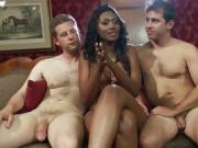 Stunning Ebony Bends Dudes Over And Doms Them