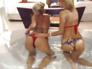Hot lesbian couple in a jacuzzi