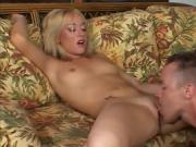 Blonde Baby Angel On Her Knees For Dick