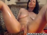 Fucking Pussy With SexToy