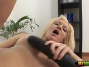 Brutal dildos for her amateur snatch