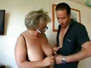 Fat Old Lady Enjoys Some Hard Young Cock