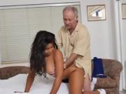 Sexy Teen Tara Foxx Gets Humped By Old Guy